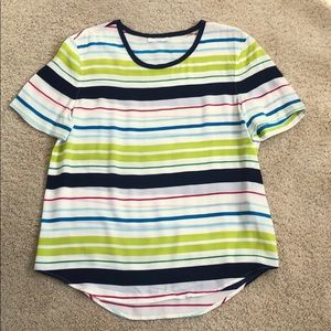 Equipment Riley striped top